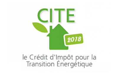 Crédit d'impôt 2018 (CITE)